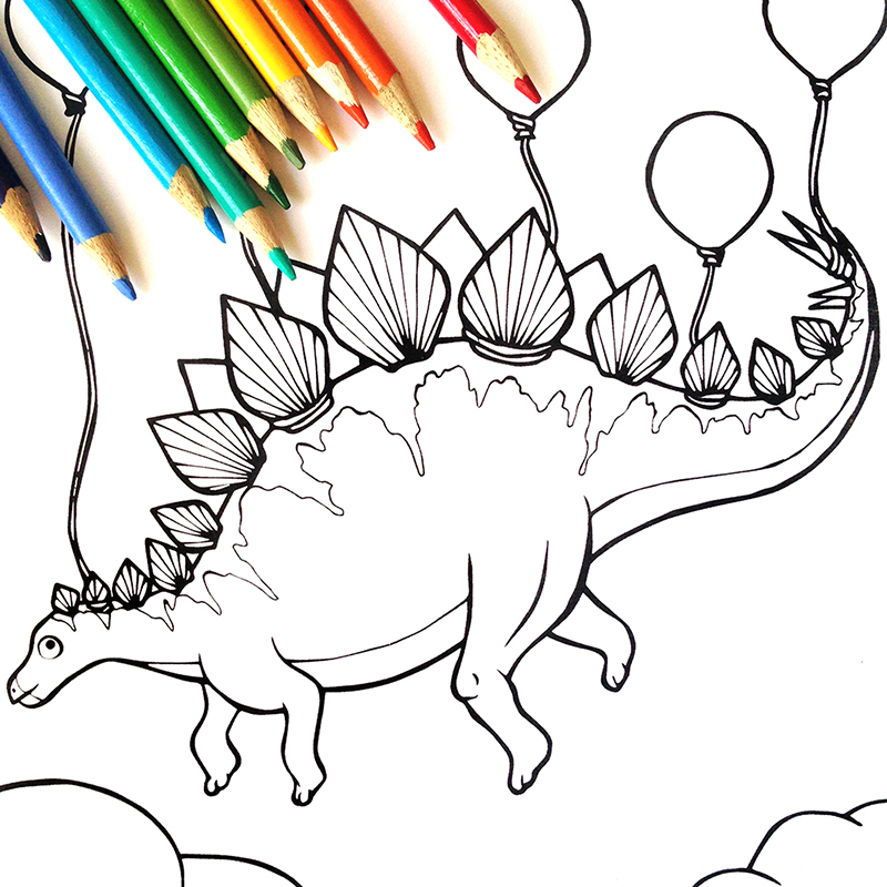 Coloring Books For Adults Dinosaurs : Dinosaur coloring book u2013 serena epstein